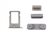 Replacement Part for Apple iPhone 5s SIM Card Tray+Side Keys - Gray- A Grade