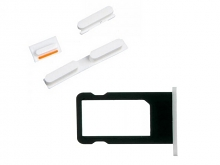 Replacement Part for Apple iPhone 5c SIM Card Tray+Side Keys -White - A Grade