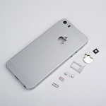 Replacement Part for Apple iPhone 6 Rear Housing Assembly With Apple Logo (Without IMEI Code) - Silver - With Words - A