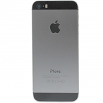 Replacement Part for Apple iPhone 5s Rear Housing with Top and Bottom Glass Cover - Gray - A Grade