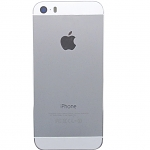 Replacement parts for the Apple iPhone 5s Rear Housing, with Top and Bottom Glass Cover - White - A Grade