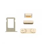 Replacement Part for Apple iPhone 5s SIM Card Tray+Side Keys - Gold- A Grade