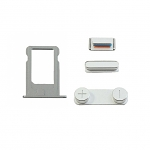 Replacement Part for Apple iPhone 5s SIM Card Tray+Side Keys - Silver A Grade
