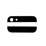 Replacement Part for Apple iPhone 5 Top and Bottom Glass Cover - Black - R Grade