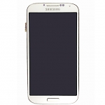 Replacement Part for Samsung Galaxy S4 LCD Screen and Digitizer Assembly with Front Housing - White - With Sams
