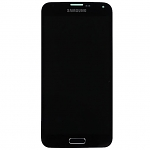 Replacement Part for Samsung Galaxy S5 LCD Screen and Digitizer Assembly with Home Button - Black - With Samsung