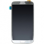 Replacement Part for Samsung Galaxy Note2 LCD Screen and Digitizer Assembly - Gray - A Grade
