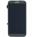 Replacement Part for Samsung Galaxy Note2 LCD Screen and Digitizer Assembly with Front Housing - Gray - A Grade