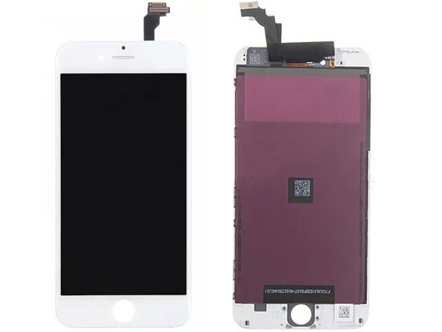 Replacement Part for Apple iPhone 6 Plus LCD Screen and Digitizer Assembly with Frame (Assembled Flex) - White - A Grade