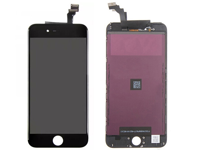 Replacement Part for Apple iPhone 6 Plus LCD Screen and Digitizer Assembly with Frame (Assembled Flex) - Black - A Grade